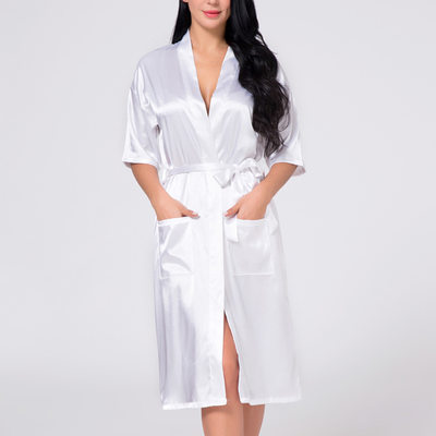 Bride Gifts - Beautiful Classic Elegant Charmeuse Robe