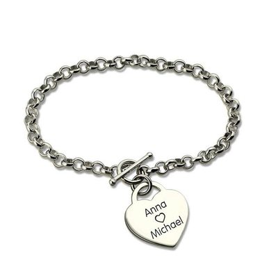 Personalized Ladies' 925 Sterling Silver For Bridesmaid/For Friends/For Couple