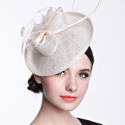 Glamourous Feather/Cambric Hats