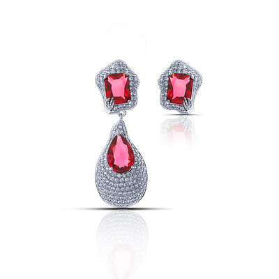 Ladies' Gorgeous Copper/Platinum Plated With Pear Cubic Zirconia Earrings For Mother/For Friends