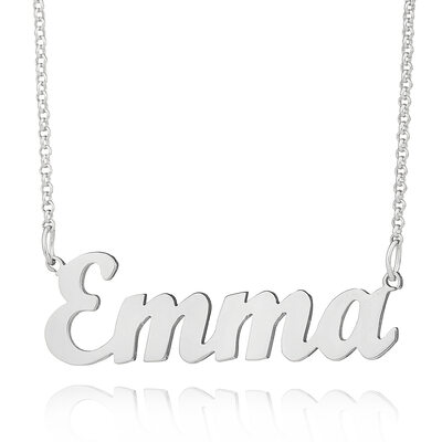 Christmas Gifts For Her - Custom Silver Letter Name Necklace