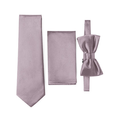JJ's House Satin Tie, Bow Tie & Pocket Square Set