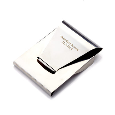 Groom Gifts - Personalized Modern Fashion Stainless Steel Money Clip (Sold in a single piece)
