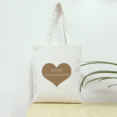 Bridesmaid Gifts - Personalized Fashion Canvas Style Cotton Tote Bag