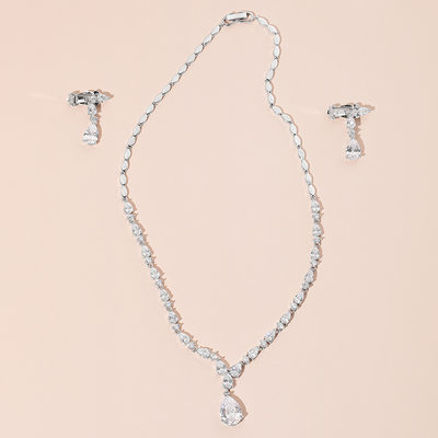Ladies' Elegant Zircon Jewelry Sets For Bride/For Bridesmaid/For Mother/For Friends