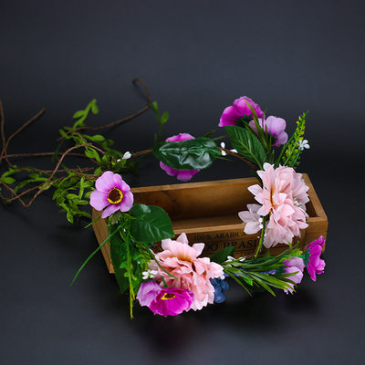 Ladies Eye-catching Silk Flower Headbands (Sold in single piece)