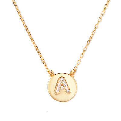 Custom 18k Gold Plated Silver Initial Name Necklace