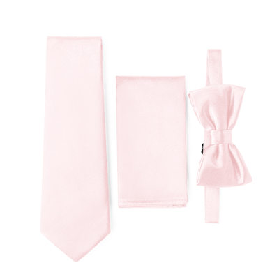 JJ's House Charmeuse Tie, Bow Tie & Pocket Square Set