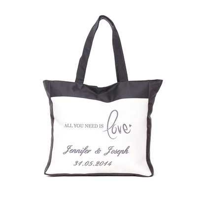 Bride Gifts - Personalized Canvas Style Cloth Tote Bag (Sold in a single piece)
