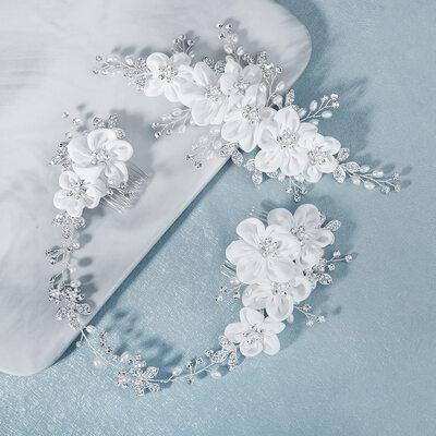 Ladies Beautiful Rhinestone/Imitation Pearls Hairpins With Rhinestone/Venetian Pearl (Sold in single piece)