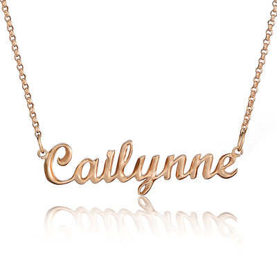 [Free Shipping]Custom 18k Rose Gold Plated Silver Name Necklace (288211283)