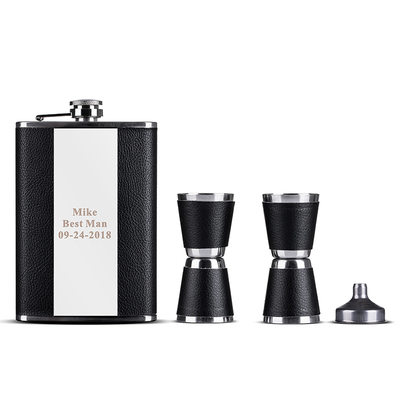 Groom Gifts - Personalized Classic Elegant Fashion Stainless Steel Flask (Sold in a single piece)
