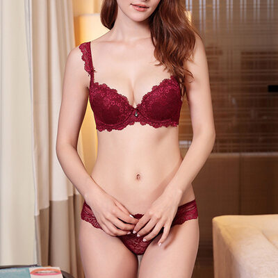 Charming Chinlon/Nylon Underwire Bra/Lingerie Set