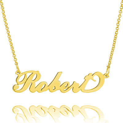 Custom 18k Gold Plated Carrie Name Necklace - Valentines Gifts