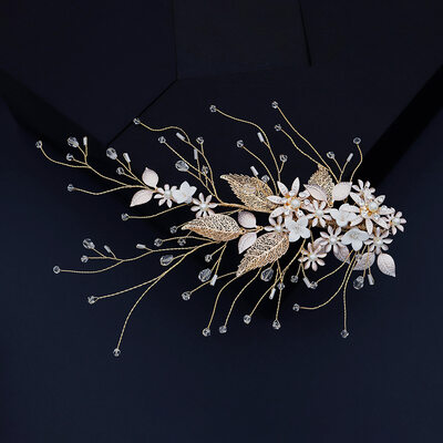 Damen Schöne Kristall/Strass/Faux-Perlen Haarnadeln mit Venezianischen Perle/Kristall (In Einem Stück Verkauft)