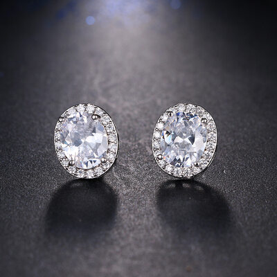 Ladies' Classic Zircon Earrings For Bride/For Bridesmaid/For Mother