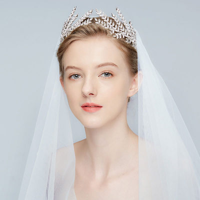 Glamourous Alloy Tiaras With Rhinestone/Crystal (Sold in single piece)