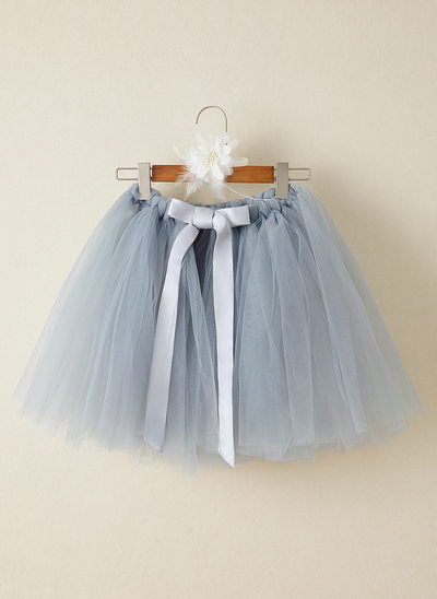 Ball-Gown/Princess Knee-length Flower Girl Dress - Tulle