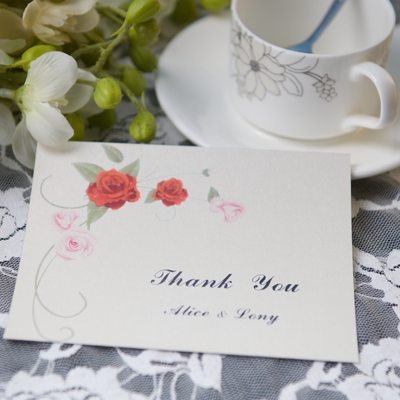 Personalized Floral Style Thank You Cards