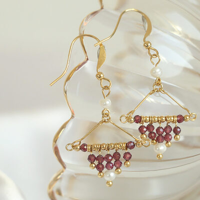 Ladies' Exotic Gold Plated/Brass With Round Crystal Earrings For Bridesmaid/For Friends