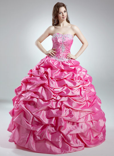 65add423b4e Ball-Gown Sweetheart Floor-Length Taffeta Quinceanera Dress With Ruffle  Beading Appliques Lace Sequins