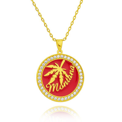 Custom 18k Gold Plated 3D Engraved Necklace - Birthday Gifts Mother's Day Gifts