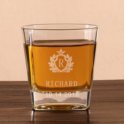 Groomsmen Gaver - Personlig Elegant Glass Whisky Glass