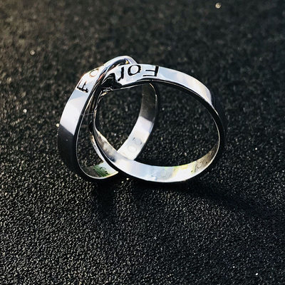 Personalized Ladies' Exquisite 925 Sterling Silver With Round Engraved Rings Rings For Friends/For Couple