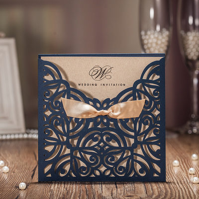 Personalized Classic Style/Modern Style Wrap & Pocket Invitation Cards