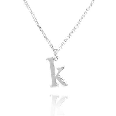 Custom Sterling Silver Letter Signature Initial Necklace - Valentines Gifts