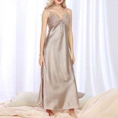 Classic Imitated Silk Sleepwear/Bridal Lingerie/Slips