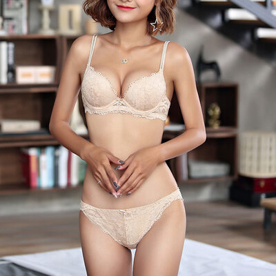Beautiful Butterfly Chinlon/Nylon Underwire Bra/Lingerie Set