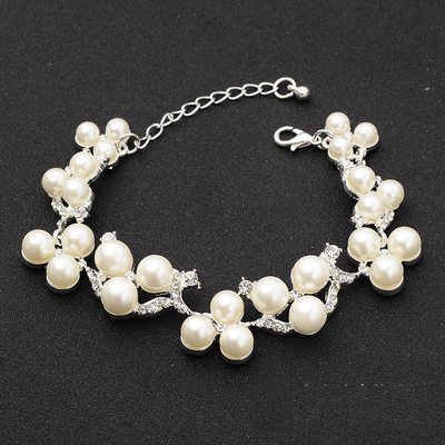 Fashionable Alloy/Rhinestones Ladies' Bracelets