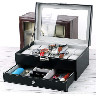 Groom Gifts - Classic Leather Watch Box