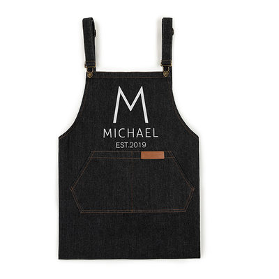Groom Gifts - Personalized Modern Denim Apron