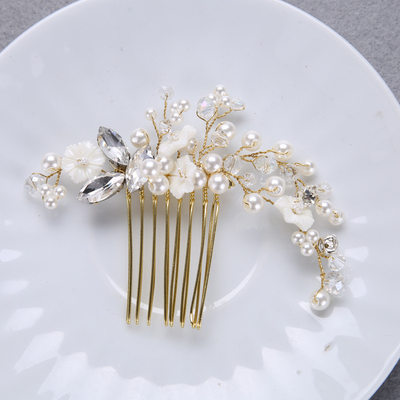 Beautiful Rhinestone/Imitation Pearls Combs & Barrettes With Pearl
