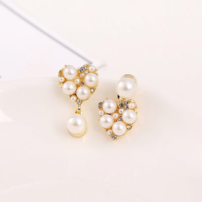 Ladies' Romantic Alloy/Rhinestones/Imitation Pearls Earrings For Her