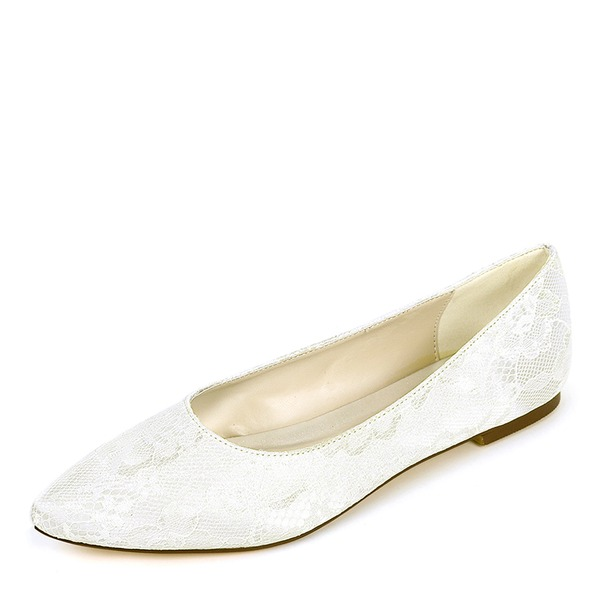 Women's Silk Like Satin Flat Heel Flats With Others