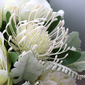 Romantic Free-Form Silk Flower Bridal Bouquets -