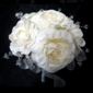 Pure Hand-tied Satin Bridal Bouquets -