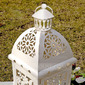 Pretty Flower Design Iron Candle Lantern