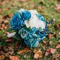 Charming Free-Form Satin Bridal Bouquets/Bridesmaid Bouquets -