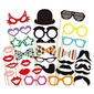 Funny Mask Card Paper Photo Booth Props (31 Pieces)