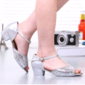 Women's Leatherette Heels Latin With Buckle Sequin Dance Shoes