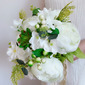 Classic Hand-tied Emulational Succulent Plant/Lace Bridal Bouquets (Sold in a single piece) - Bridal Bouquets