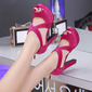 Women's Stiletto Heel Sandals Platform Peep Toe shoes