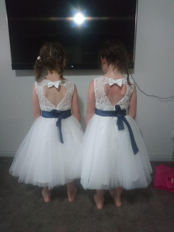 A-Line/Princess Knee-length Flower Girl Dress - Tulle/Lace ...