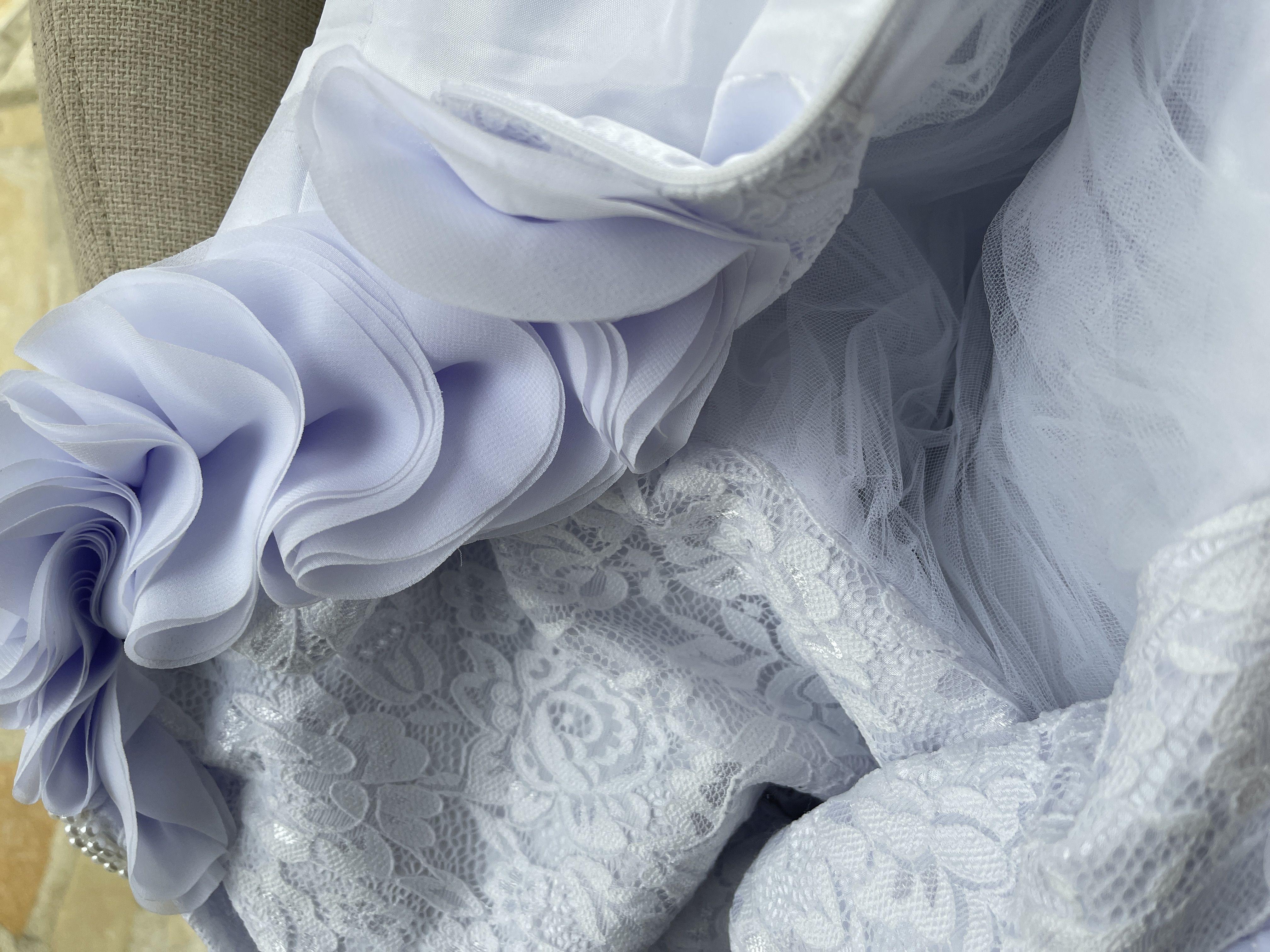Robe Marquise/Princesse Balayage/Pinceau train Robes à Fleurs pour Filles - Tulle/Dentelle Sans manches Col rond avec Fleur(s)