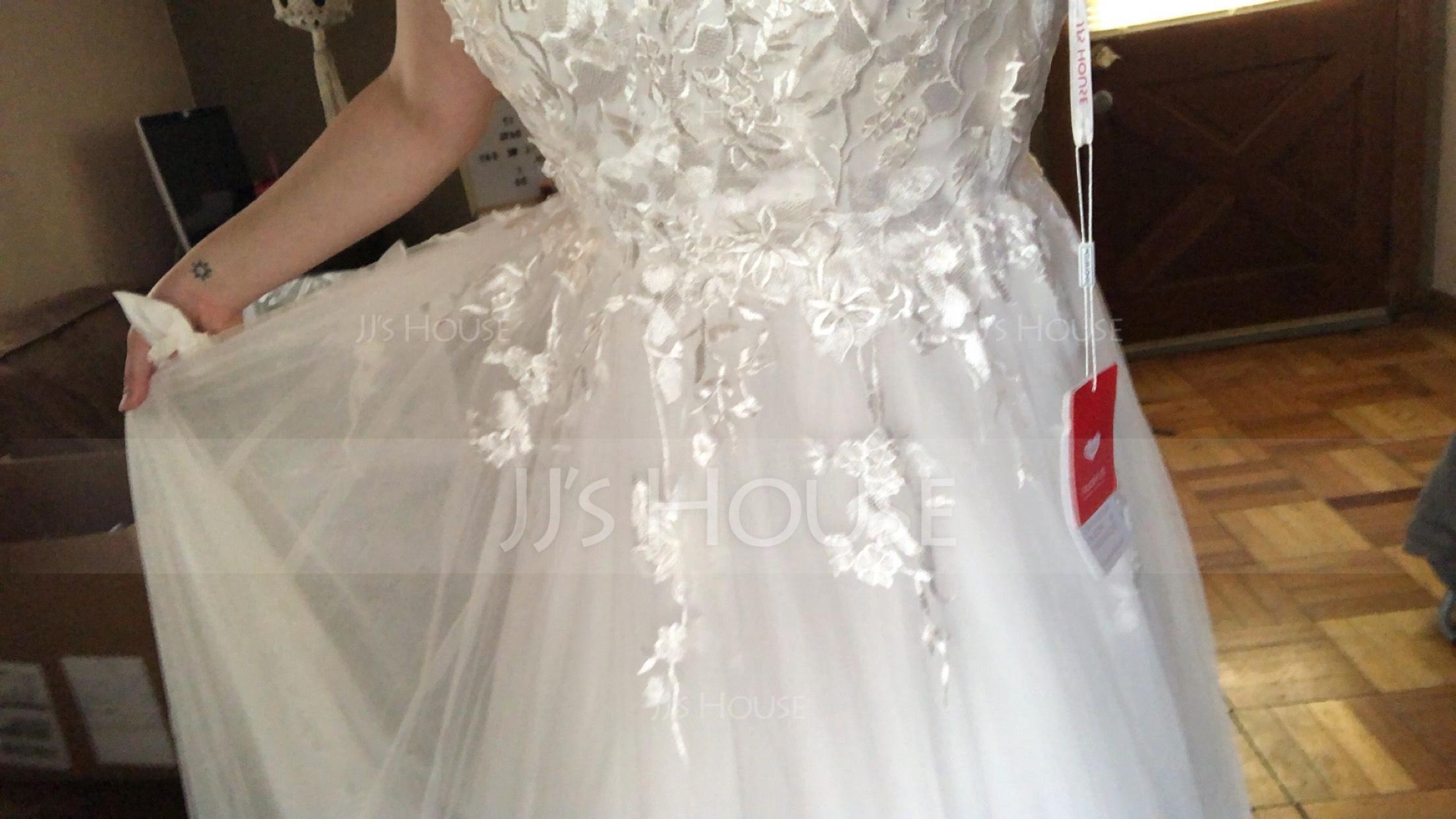 Robe Marquise Amoureux Balayage/Pinceau train Tulle Robe de mariée (002171937)