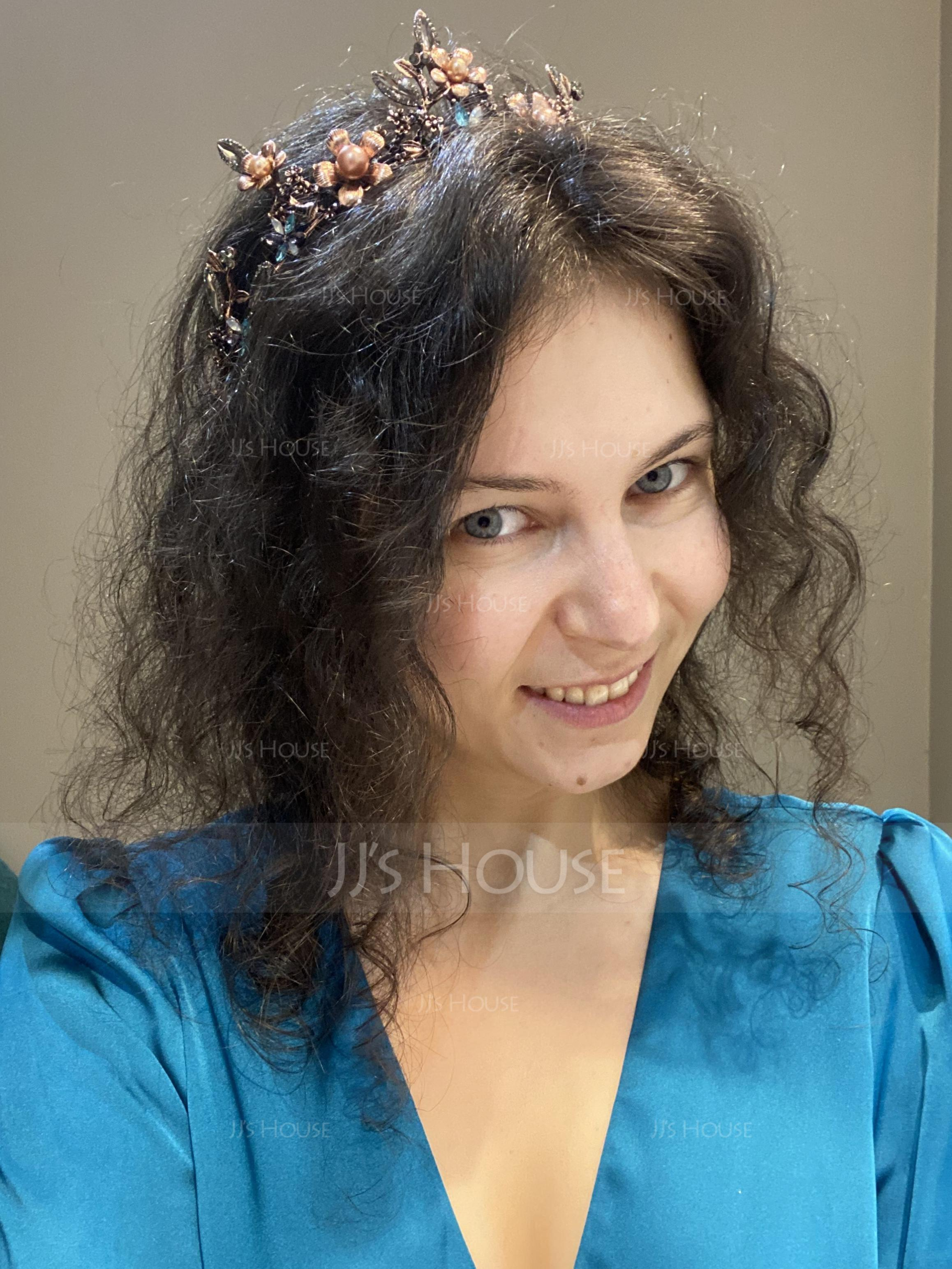 Ladies Beautiful Rhinestone/Alloy/Imitation Pearls Tiaras With Rhinestone/Venetian Pearl (042138721)